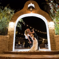 wild horse ranch bride and groom