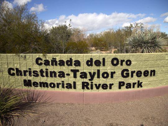 Christina-Taylor Green Memorial River Park sign