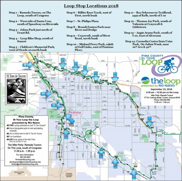 LOOP THE LOOP! Kick-off Ride for El Tour de Tucson