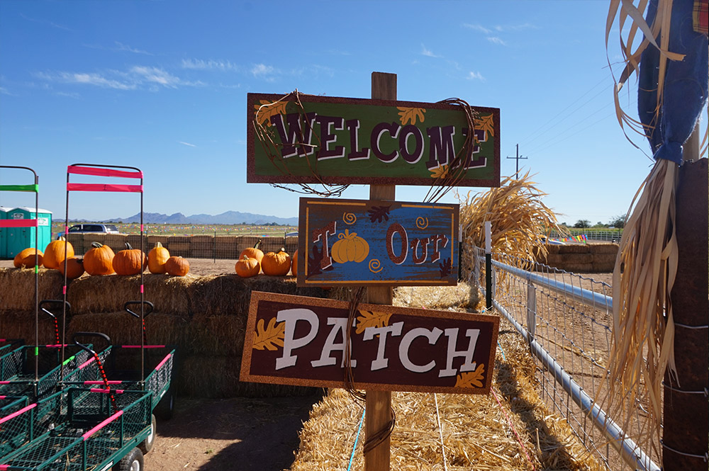 Welcome to Our Patch sign