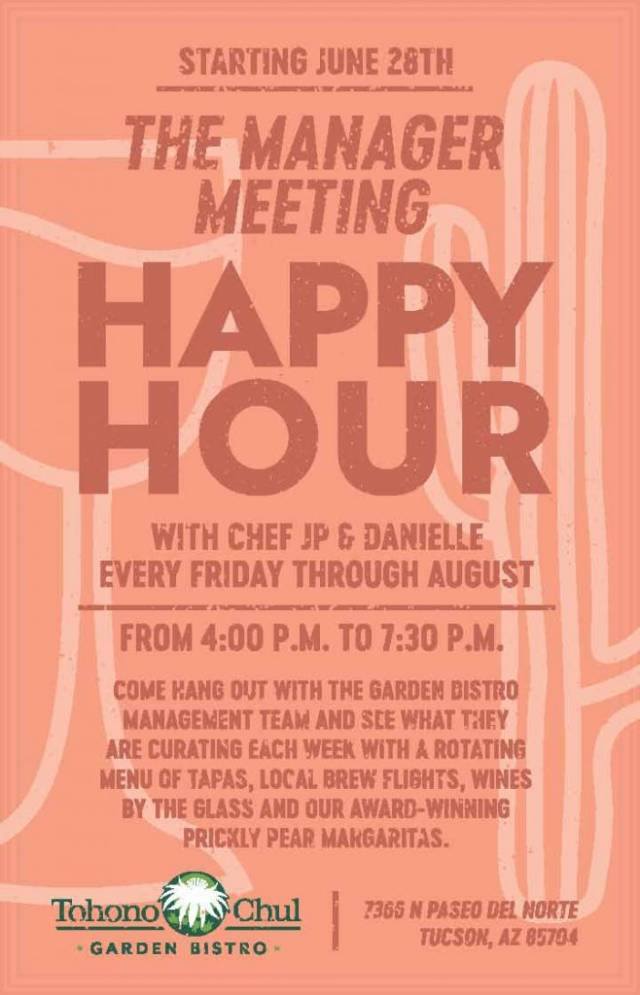 Tohono Chul Happy Hour