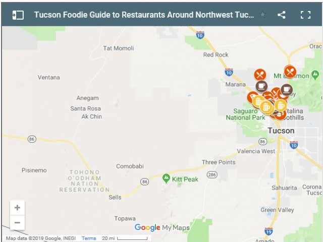 Interactive Guide to 66 Northwest Tucson Restaurants, Bars & Cafes (MAP)