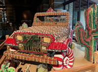 Bedazzled with Gingerbread, Sweets and Holiday Treats, A Life-Size Gingerbread Jeep® Rolls into the