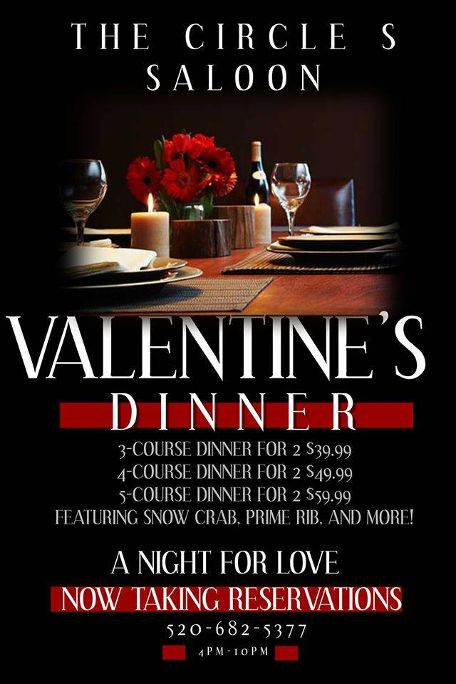 Circle S Saloon Valentine's Day 5-course Dinner